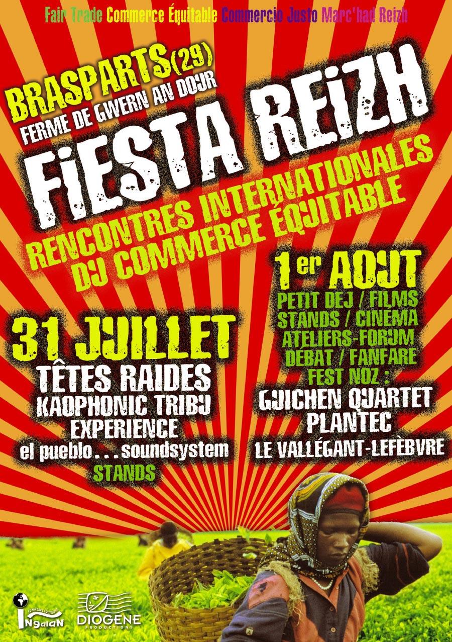 """Flyer pour l'évenementiel """"Fiesta Reizh"""" (recto)"""