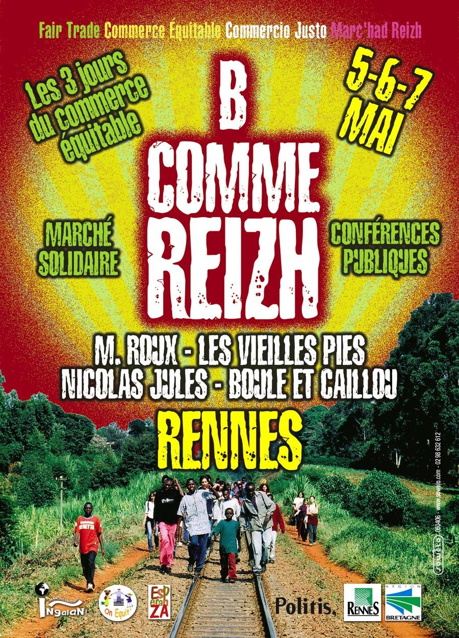 """Flyer pour l'évenementiel """"B comme Reizh"""" (recto)"""
