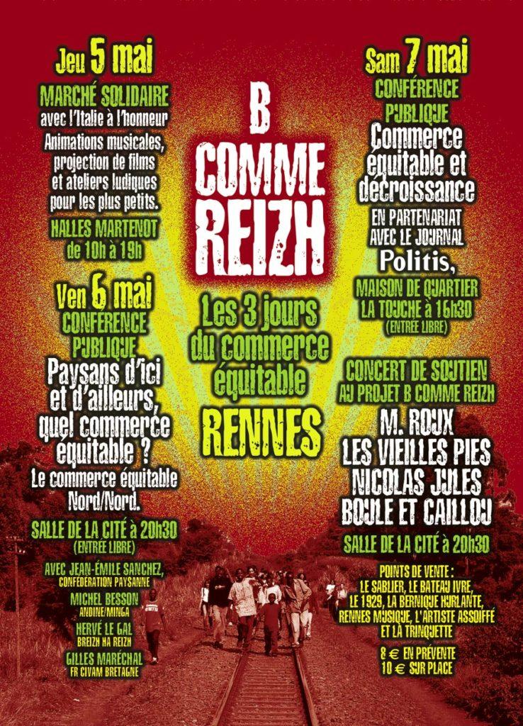 """Flyer pour l'évenementiel """"B comme Reizh"""" (verso)"""
