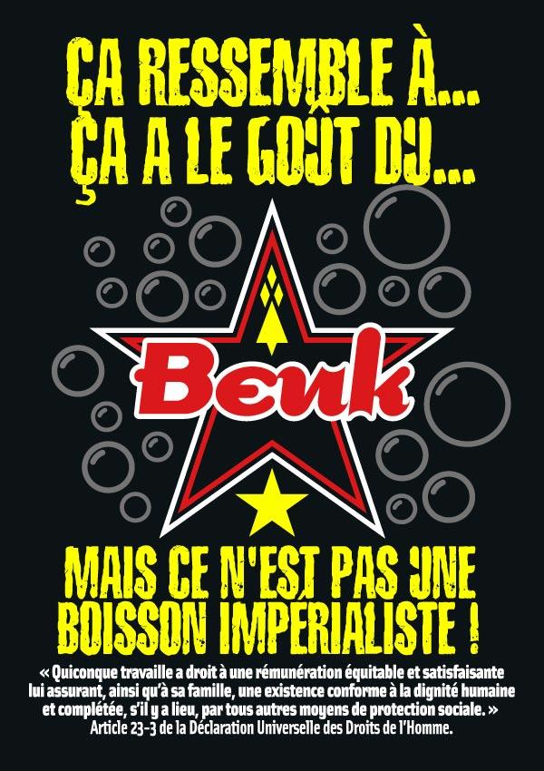 Flyer pour Beuk, le cola alternatif (recto)