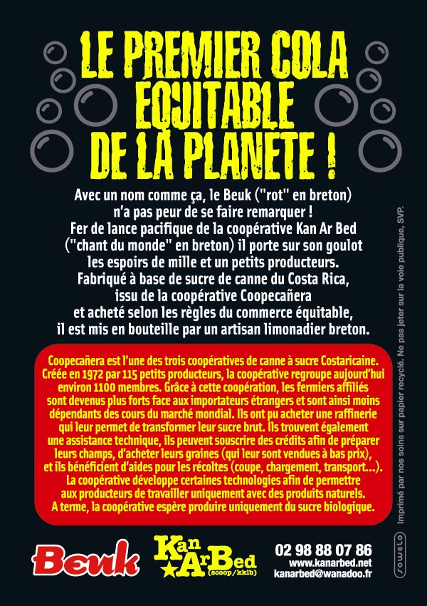 Flyer pour Beuk, le cola alternatif (verso)