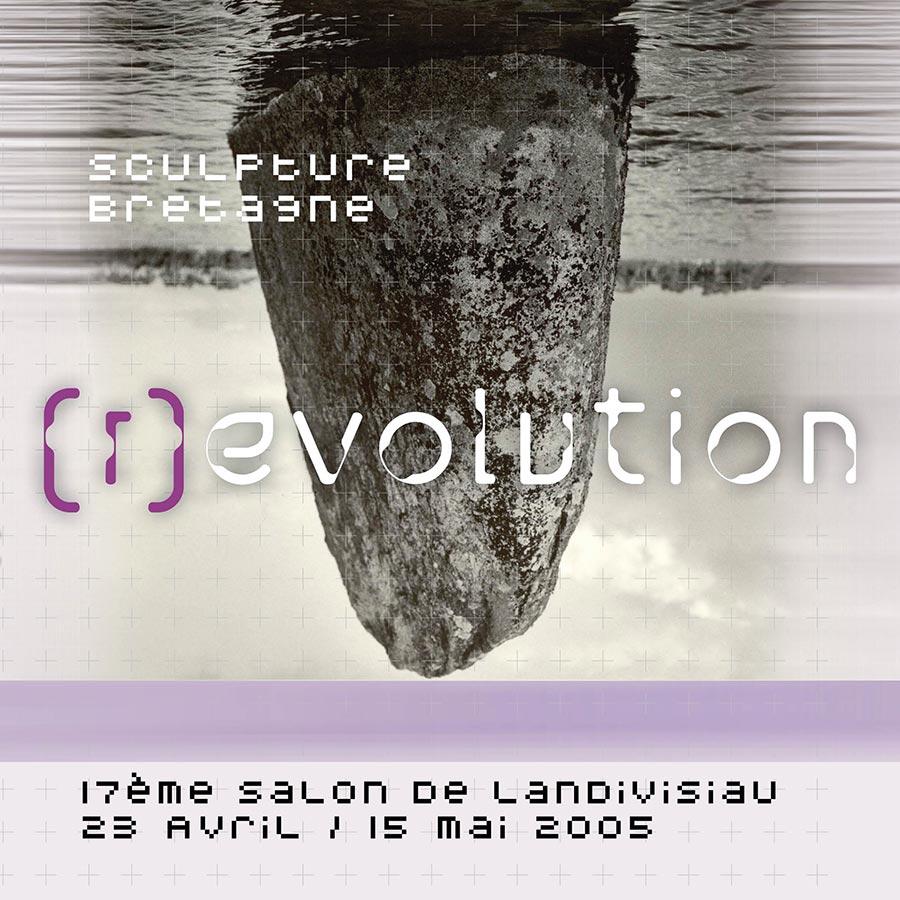 Première de couverture du catalogue d'expo (r)evolution, organisée par Sculpteurs Bretagne