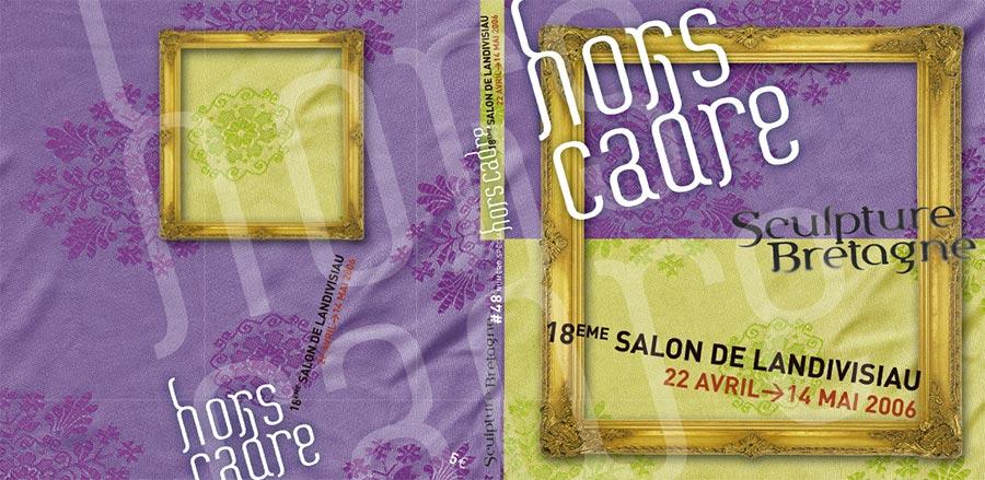 """Première de couverture du catalogue d'expo """"Hors Cadre"""", organisée par Sculpteurs Bretagne"""
