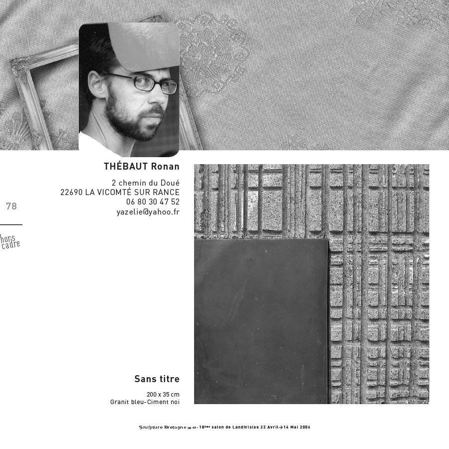 """Pages intérieures du catalogue d'expo """"Hors Cadre"""""""