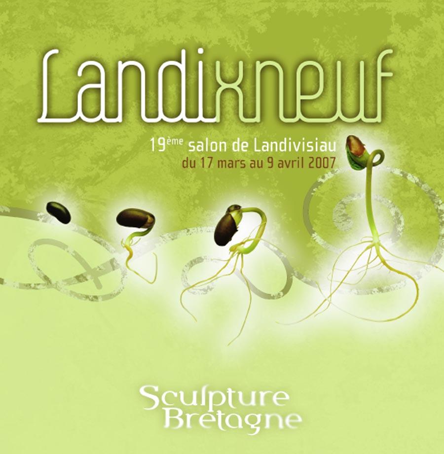 """Première de couverture du catalogue d'expo""""Landixneuf"""", organisée par Sculpteurs Bretagne"""