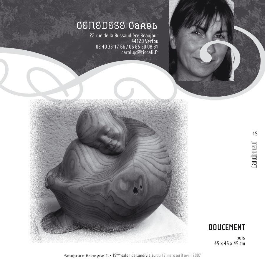 """Pages intérieures du catalogue d'expo """"Landixneuf"""""""